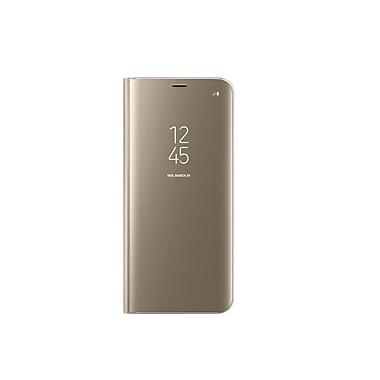 Samsung – Étui à rabat Clear View avec support pour Galaxy S8+, doré (EF-ZG955CFEGCA)