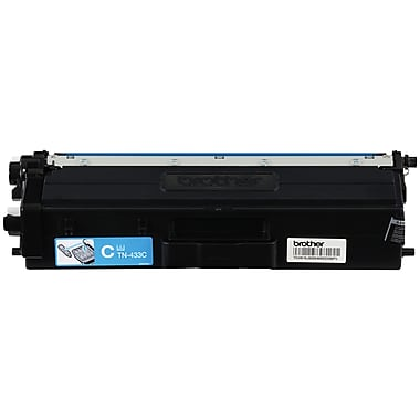 Brother TN433 Cyan Toner Cartridge, High Yield (TN433C)