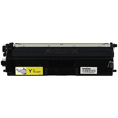 Brother TN433 Yellow Toner Cartridge, High Yield (TN433Y)