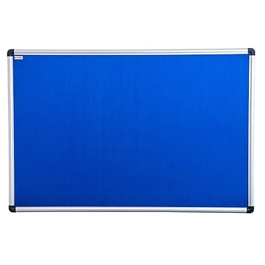 Viztex Fabric Bulletin Board - Alminium Trim, 36x24