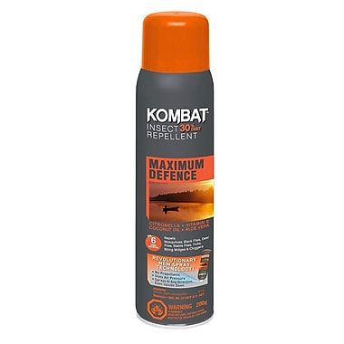 Kombat – Insectifuge en aérosol Maximum Defence avec 30 % de DEET, 200 g, (90300)