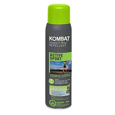 Kombat Active/Sport 15% DEET Repellent, 200g BOV, 3/Pack