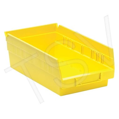 Quantum Storage Shelf Bins, Yellow, 30 lbs, 36/Pack