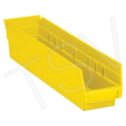 Quantum Storage Shelf Bins, Yellow, 40 lbs, 36/Pack
