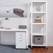 Hirsh Industries Industrial Modern Mobile 72'' Etagere Bookcase; White
