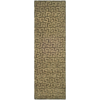 Latitude Run Woodburn Brown/Gold Area Rug; Runner 2'6'' x 12'