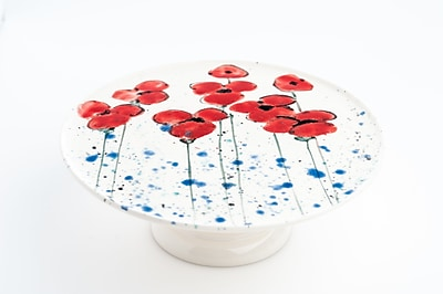 Abigails Poppies Cake Stand