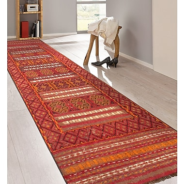 Pasargad Balouch Vintage Lamb's Wool Hand-Knotted Red/Brown Area Rug