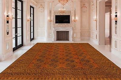 Pasargad Yamoud Vintage Lamb's Wool Hand-Knotted Camel Area Rug