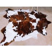 Pergamino Natural Cowhide Brown/White Area Rug