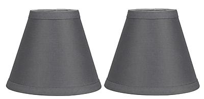 Urbanest Hardback 6'' Linen Empire Lamp Shade (Set of 2); Gray