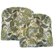 Edie Inc. Valbella Tufted Outdoor Dining Chair Cushion (Set of 2); Provence