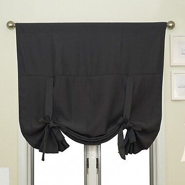 Prestige Home Fashion Thermal Insulated Blackout Tie-Up Shade; Charcoal