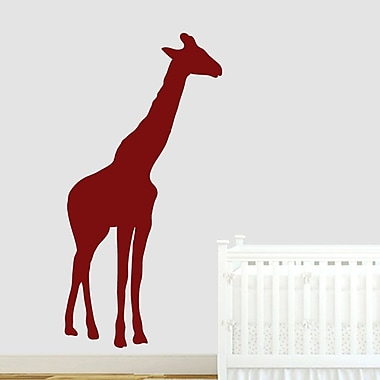 SweetumsWallDecals Giraffe Silhouette Wall Decal; Cranberry