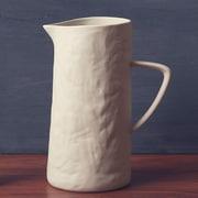 ZallZo Slate Stoneware 60 Oz. Pitcher; White