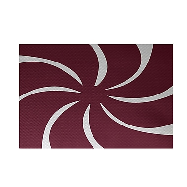 The Holiday Aisle Decorative Holiday Geometric Print Cranberry Burgundy Indoor/Outdoor Area Rug