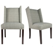 Sole Designs Winged Nail Head Spring Upholstered Side Chair (Set of 2)