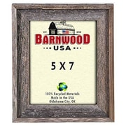 BarnwoodUSA Rustic 100pct Reclaimed Wood Signature Picture Frame; 5'' x 7''
