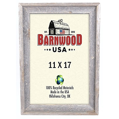 BarnwoodUSA Rustic 100pct Reclaimed Wood Signature Picture Frame; 11'' x 17''
