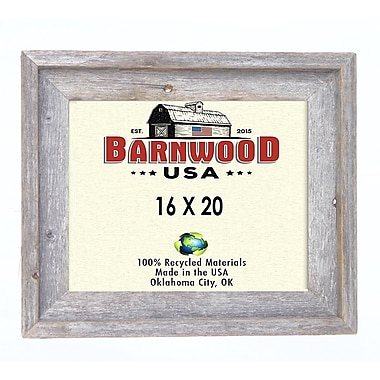 BarnwoodUSA Rustic 100pct Reclaimed Wood Signature Picture Frame; 16'' x 20''