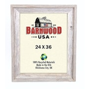 BarnwoodUSA Rustic 100pct Reclaimed Wood Signature Picture Frame; 24'' x 36''
