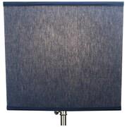 Fenchel Shades 14'' Linen Rectangular Lamp Shade; Navy Blue