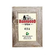 BarnwoodUSA Rustic 100pct Reclaimed Wood Weathered Picture Frame; 4'' x 6''