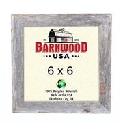BarnwoodUSA Rustic 100pct Reclaimed Wood Weathered Picture Frame; 6'' x 6''