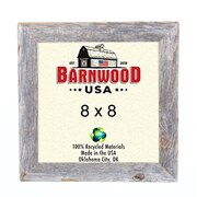 BarnwoodUSA Rustic 100pct Reclaimed Wood Weathered Picture Frame; 8'' x 8''