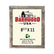 BarnwoodUSA Rustic 100pct Reclaimed Wood Weathered Picture Frame; 8.5'' x 11''