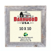 BarnwoodUSA Rustic 100pct Reclaimed Wood Weathered Picture Frame; 10'' x 10''