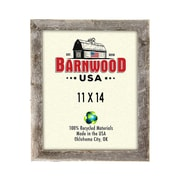 BarnwoodUSA Rustic 100pct Reclaimed Wood Weathered Picture Frame; 11'' x 14''