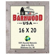 BarnwoodUSA Rustic 100pct Reclaimed Wood Weathered Picture Frame; 16'' x 20''