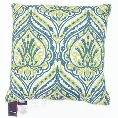 The Balmont Collection Embroidered Chain Stitch Spade Throw Pillow; White