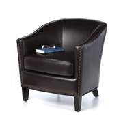 Mercer41  Evas Barrel Chair; Brown