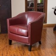 Mercer41  Evas Barrel Chair; Red
