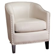 Mercer41  Evas Barrel Chair; Ivory