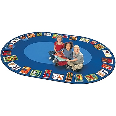 Zoomie Kids Camila Reading by the Book Kids Area Rug; 6'8'' x 13'4''