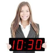 Symple Stuff Huge 5'' Black Numbers LED Clock
