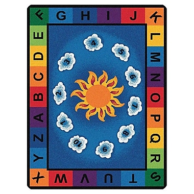 Zoomie Kids Camila Sunny Day Learn and Play Kids Area Rug; Oval 6'9'' x 9'5''
