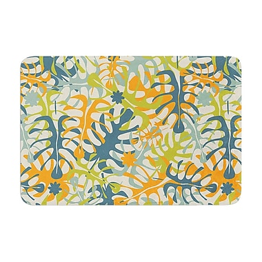 East Urban Home Summer Tropical Leaves by Julia Grifol Memory Foam Bath Mat; 17'' W x 24'' L
