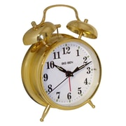 Charlton Home Twin Bell Alarm Clock; Gold
