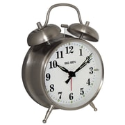 Charlton Home Twin Bell Alarm Clock; Silver