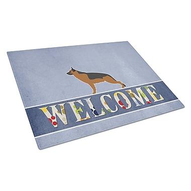 Caroline's Treasures Welcome Dog Glass German Shepherd Cutting Board