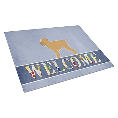Caroline's Treasures Welcome Dog Glass Brussels Griffon Cutting Board