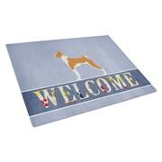 Caroline's Treasures Welcome Dog Glass Basenji Cutting Board