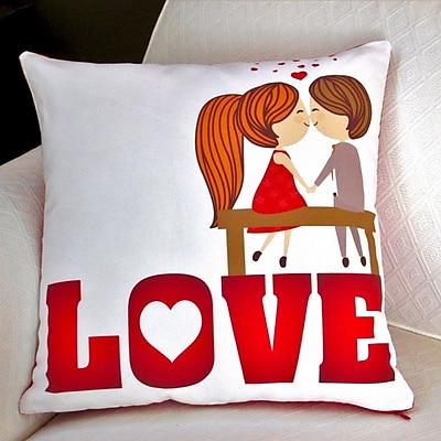 Artisan Pillows Valentine's Day Love Cotton Throw Pillow