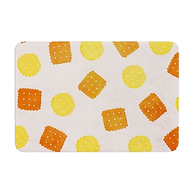 East Urban Home Strawberringo Do You Love Biscuits? Memory Foam Bath Rug