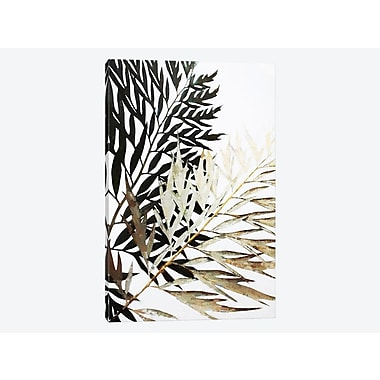 East Urban Home 'Leaves' Graphic Art Print on Canvas; 18'' H x 12'' W x 1.5'' D