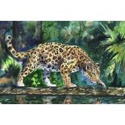 World Menagerie 'On the Prowl' Painting Print on Wrapped Canvas; 40'' H x 60'' W x 1.5'' D